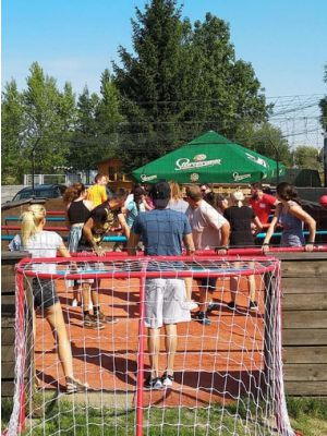 Human table football Praag