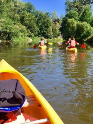 Kanoën op de Sazava rivier