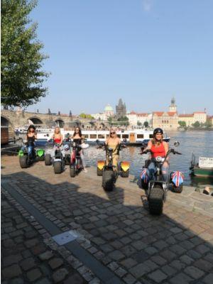 Trike e-scooter tour Praag