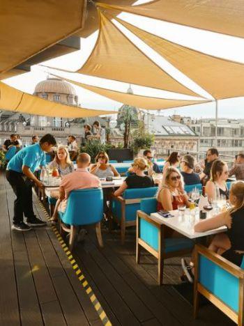 3-gangen diner - Rooftop restaurant Praag